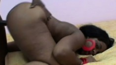 Super thick ebony Morgan Lezlee gets black penis from behind