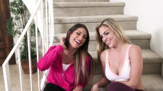 Luscious sisters seize the opportunity to indulge in hot lesbian sex