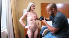 Skinny Blonde Teen Shows Off Her Hot Body And Fucks A Big Black Cock