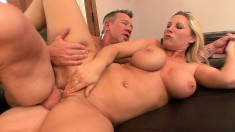Voluptuous mom Devon Lee wants nothing but a hard rod filling her cunt