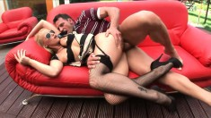 Cathy Campbell enjoys feeling a hard meat stick in her asshole