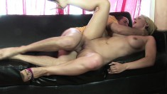 Kodi Gamble gives him head and takes it up her hairless twat