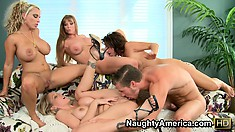 Bootylicious Darla Crane and her friends have fun with thick-headed gadget