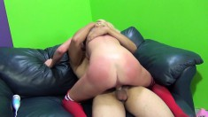 Sexy Channel Rae gets her ass whooped while getting her cunt banged
