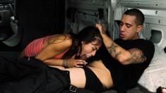 Foxy Little Michelle Martinez Chokes Down A Big Rod And Fucks In A Van