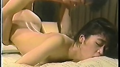 He pumps her wet hole and then nails her from behind doggy style