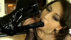 Fine beautiful lesbian gets a lot of fun with the pussy of her love-mate