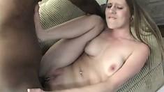 Nubile girl Nicole gets her slit destroyed by a hard black cock