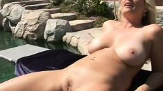Lusty blonde MILF needs to ride big black dicks every single day