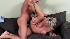 Chennin Blanc moans and groans from having his cock in her ass