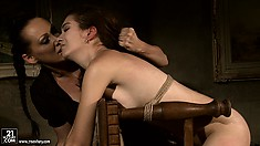 Enjoyable BDSM games of cunning vixen and her poor sex slave ends pretty well