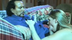 Lonely blonde housewife Nicole seduces a guy and has him fucking her needy twat