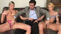 Blonde beauties Ashley Long and Fiona Cheek know their way around a long shaft