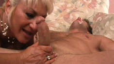 Stacked mature blonde is on the prowl for a young stud with a big cock
