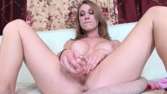 Sexy Amber Ashlee plays with herself and delivers an exciting blowjob