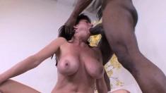 Stacked milf Karen Kougar invites a black stud to satisfy her desires