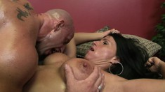 Kendra gets her moist box banged and gets a warm load in the mouth