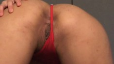 Nasty Sung Lee loves to tease by spreading her juicy cheeks wide