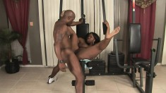 Skyy Black spreads her legs and lets her lover pound her hard