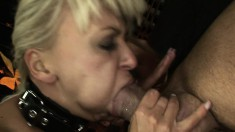 Fascinating blonde Demi gets roughly dominated and reaches her climax