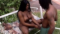 Big breasted chocolate beauty Mary Jane gets pounded by a black stud