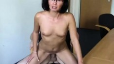 Mature Brunette Mama Is A Blowjob Master And Whore