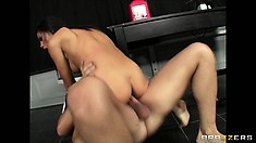 Every inch of her body is gorgeous - check it out as she rides cock in front of you