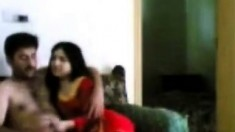 Married Indian Couple Have Sex On The Couch