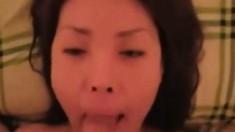 Korean GF suck and a facial