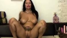 Hot, Horny 50 Year Old Latina Milf Rides Dildo!