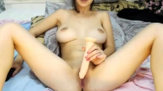 Big Boobs Asian Babe Ride A Huge Cock