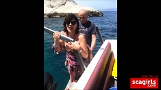 Hot MILF fuck on the boat