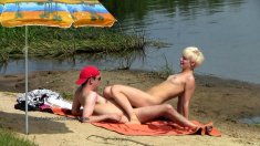 Oral And Hardcore Retro Sex On The Public Sandy Beach