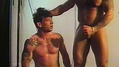 Ripped stud Gus sticks his stiff love muscle in Donnie's firm butt