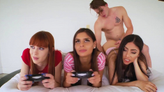 Gamer Teens Drilled By Stepbro During Playing On Console