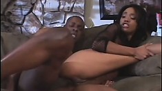 A thick black dick beats into the tight pussy of Kapri Styles