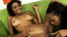 Sensual Ebony Babes Krystal And Misty Make The Moves To Satisfy Their Lesbian Needs