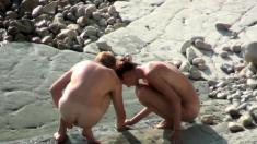 Topless Teens at the Beach Voyeur HD Video