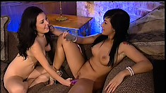 Hot Valerie uses her tongue to make her lover Avy cry with pleasure
