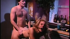 Randi Storm blows a cock and gets her tight ass fucked hard from behind