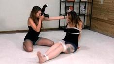 Lesbian Bdsm Masturbation And Spanking Slave