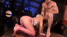 Mesmerizing blonde Alexis gets her wet peach eaten out and fucked deep