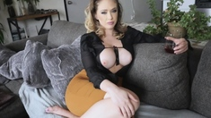 My horny stepmom wants my huge dick and enjoyed it