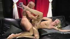 Desirable blonde with perky tits gets fucked hard by the photographer