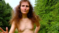 Amateur french chubby mature masturbate at the public beach