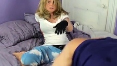 Mistress Amy Dominates The Man In The Night Cap!